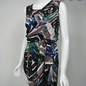 Ali Ro Grecian Hammered Silk Drape Cocktail Dress